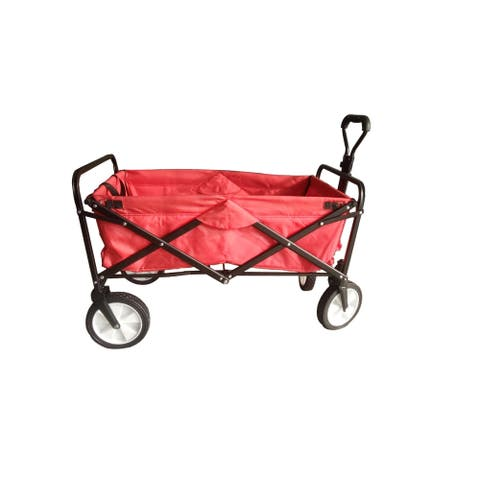 Collapsible Folding Outdoor Utility Wagon (Red)