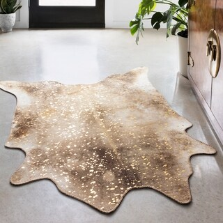 Link to Alexander Home Lolitta Faux Cowhide Area Rug Similar Items in Farmhouse Rugs