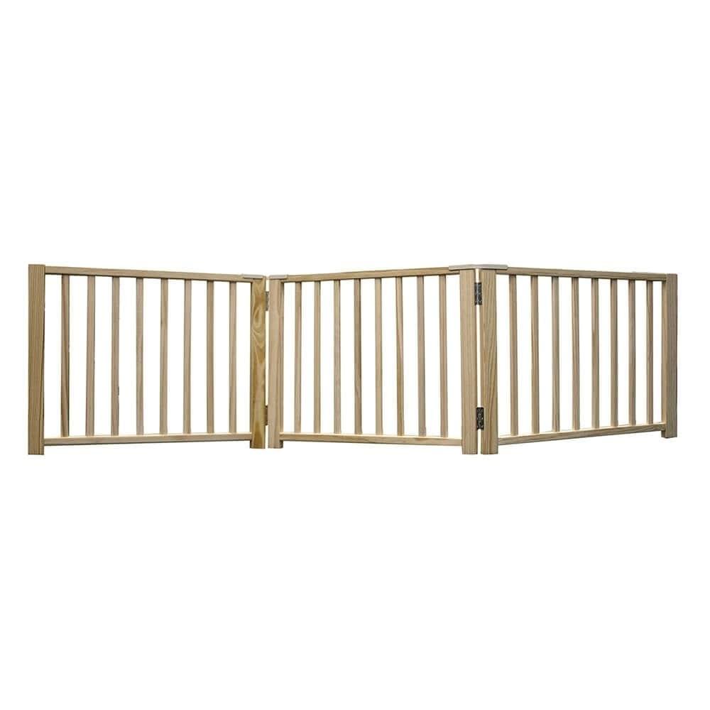 Four Paws Smart Design Folding Freestanding Gate 3 Panel Beige 24 - 68 x 1 x 17 - 3 panel