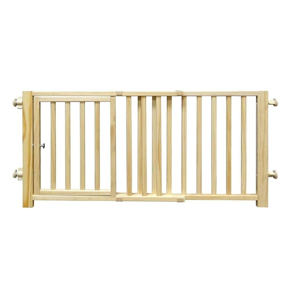 Four Paws Smart Design Walkover Pressure Mounted Gate with Door Beige 30 - 44 x 1 x 18 - N/A