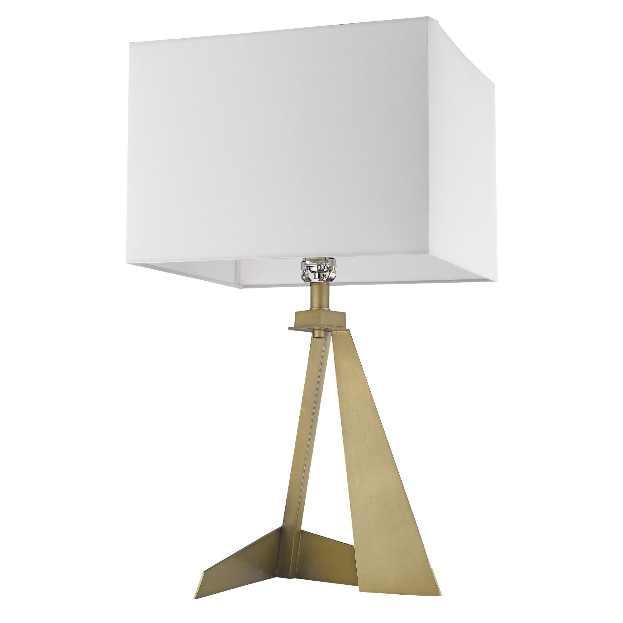 Stratos 1-Light Aged Brass Table Lamp - Aged Brass