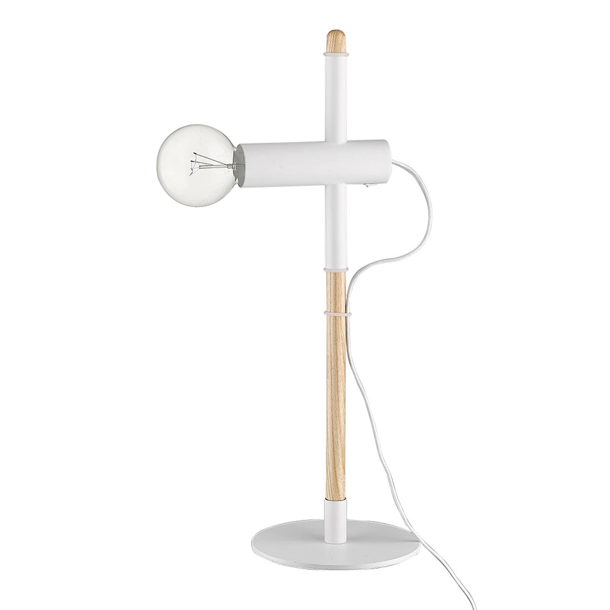 Hilyte 1-Light White Table Lamp
