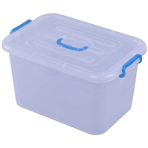 Large Clear Storage Container With Lid and Handles