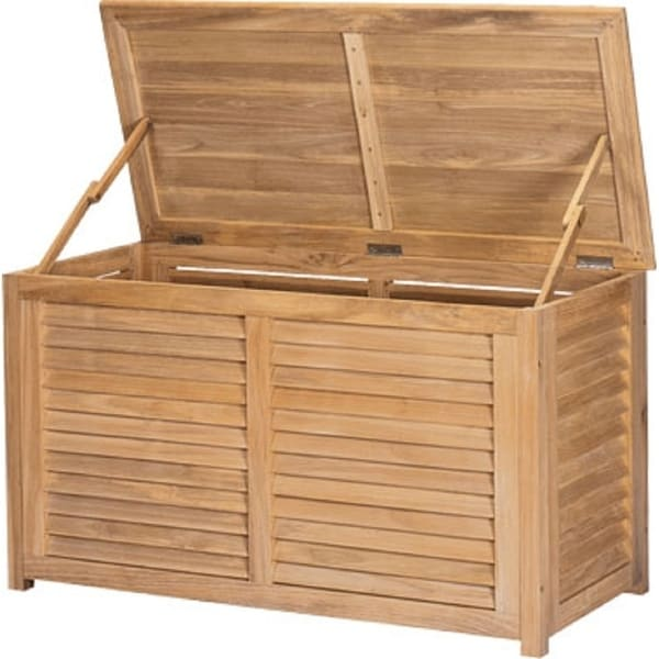 HiTeak Outdoor Teak Patio Storage Box