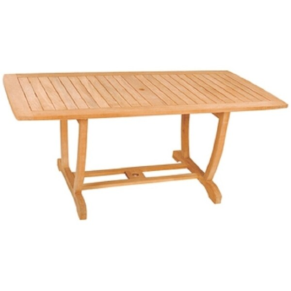 Grande Natural Finish Teak Wood Weather-resistant Rectangular Table