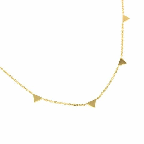 Gold Plated Triangle Stations Chain Necklace