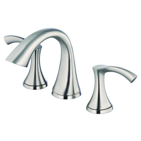 Antioch 2H Mini-Widespread Lavatory Faucet w/ 50/50 Touch Down Drain 1.2gpm Brushed Nickel