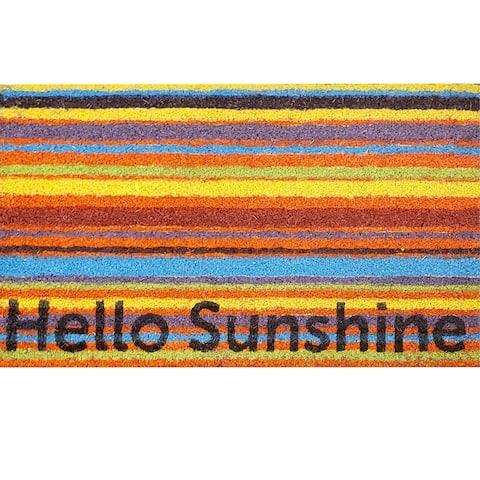 GardenPath Hello Sunshine Coir Doormat - 30W x 18L