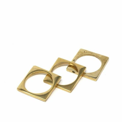Brass Squares, Set of 3, Size 7