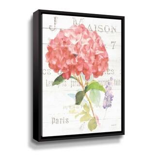 ArtWall Maison Des Fleurs VI Gallery Wrapped Floater-framed Canvas