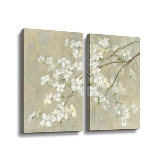 ArtWall Dogwood in Spring Neutral crop Multi-Piece Gallery Wrapped Canvas Set