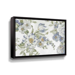 ArtWall Antique Flowers light crop Gallery Wrapped Floater-framed Canvas