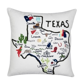 Texas State Throw Pillow Cotton 20 inch