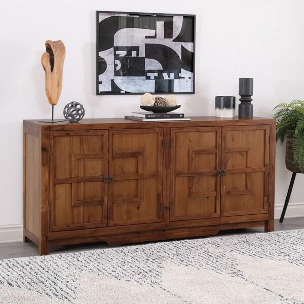 Abbyson Theodore 72-Inch Wood Side Cabinet