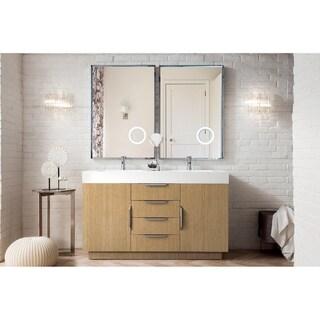 "Bainbridge 59"" Double Vanity, Tribeca Oak"