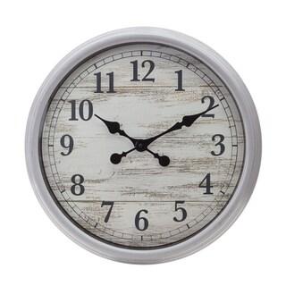 KG Wall Clock, 20In Antique Grey