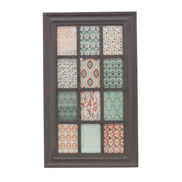 KG Collage Frame, Grey, Holds 12 4x6""