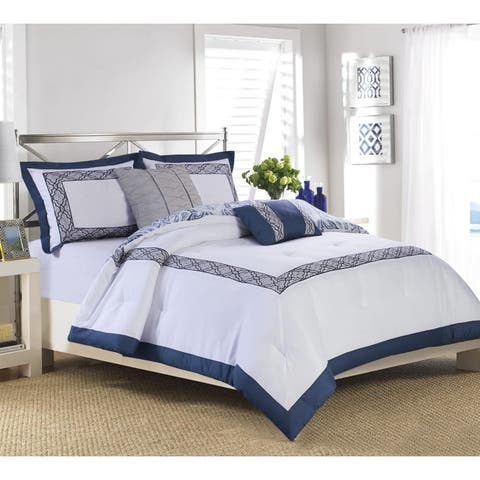 Hamilton Hall Sayer Hotel Reversiable 5 Piece Comforter Set
