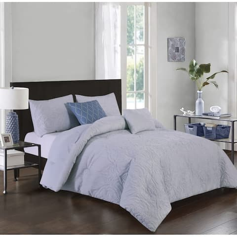 Hamilton Hall Alexa Damask 5 Piece Comforter Set