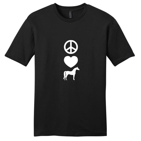 Peace Love Horses T-Shirt - Unisex Animal Shirt