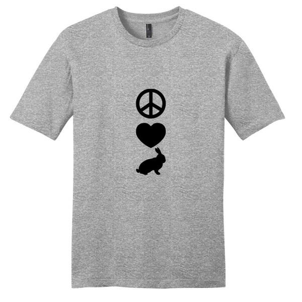 Peace Love Rabbits T-Shirt - Unisex Animal Shirt