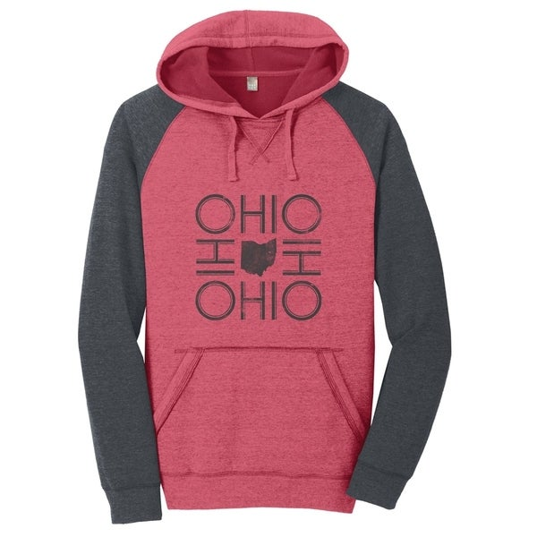 Ohio Fleece Raglan Hoodie Unisex Sweatshirt