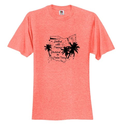 Ohio Rooted with Purpose Revived by Palm Trees T-Shirt - Unisex Fit Tropical Shirt