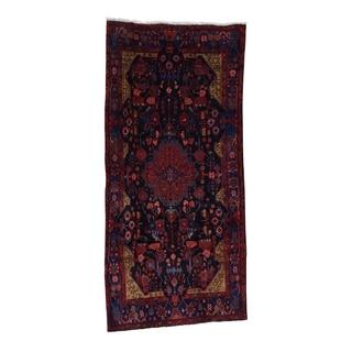 "Shahbanu Rugs Hand Knotted Persian Nahavand Wide Runner Pure Wool Oriental Rug (4'9"" x 10'0"") - 4'9"" x 10'0"""