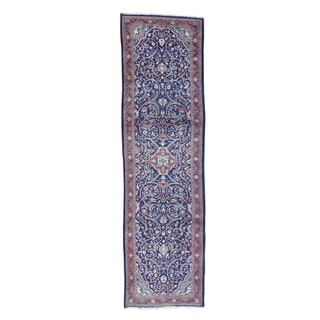 """Shahbanu Rugs Hand-Knotted Persian Mahal Wide Runner Oriental Rug (3'8"""" x 13'4"""") - 3'8"""" x 13'4"""""""