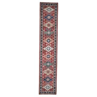 "Shahbanu Rugs Afghan Northwest Persian Design Hand-Knotted Runner Oriental Rug (2'8"" x 13'10"") - 2'8"" x 13'10"""