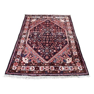 """Shahbanu Rugs Vintage Persian Lilahan Pure Wool Hand-Knotted Oriental Rug (3'7"""" x 5'2"""") - 3'7"""" x 5'2"""""""