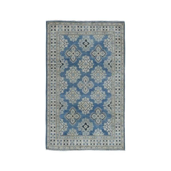 Shop Shahbanu Rugs Geometric Design Blue Vintage Look
