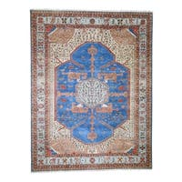 "Shahbanu Rugs Pure Wool Vegetable Dyes Bakshaish Hand-Knotted Oriental Rug (9'2"" x 11'7"") - 9'2"" x 11'7"""