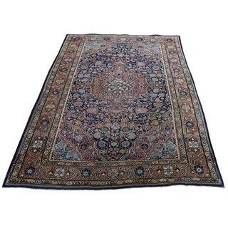 "Shahbanu Rugs Antique Persian Josan Sarouk Full Pile Good Condition Pure Wool Rug (4'4"" x 6'8"") - 4'4"" x 6'8"""