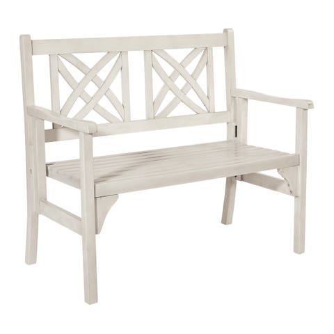 OSP Home Furnishings Levens Folding Bench