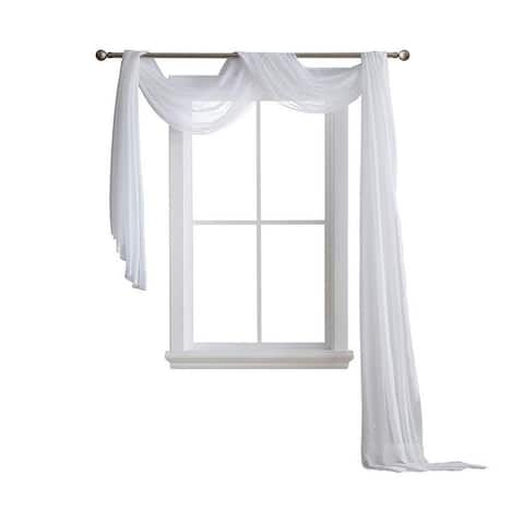 Porch & Den Chatelain Sheer Window Scarf
