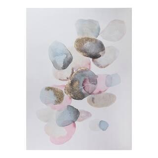 Aurelle Home Roca Modern Abstract Blue, Gold, and Pink Wall Decor