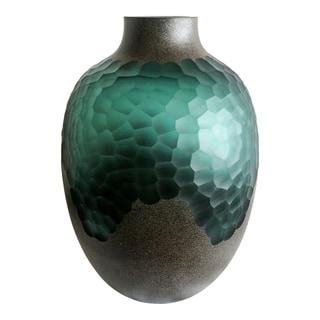 Aurelle Home Dark Green Glass Modern Vase