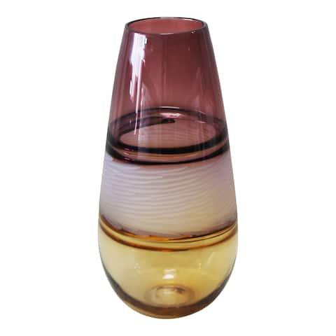 Aurelle Home Brown Glass Modern Vase