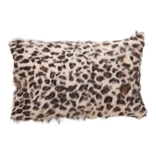 Aurelle Home Glam Spotted Goat Fur Bolster Pillow