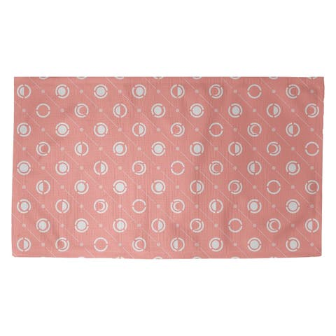 Porch & Den Imbrie Pastel Moon Phases Pattern Dobby Rug