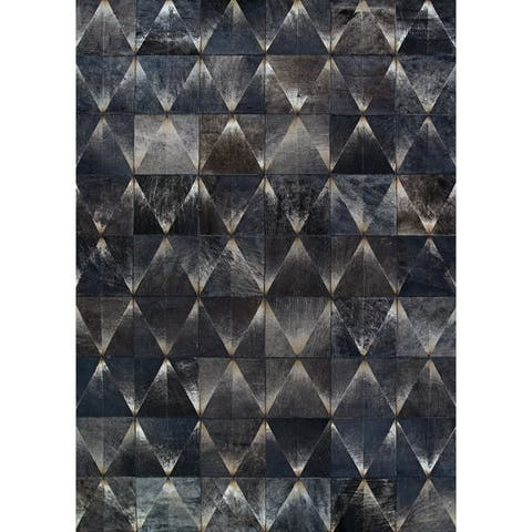 Hand-Crafted Vail Prism Cowhide Area Rug