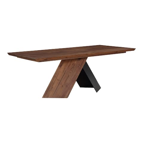 Aurelle Home Solid Wood Modern Dining Table - Black