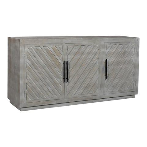 Aurelle Home Callen Solid Wood 3-door Modern Sideboard