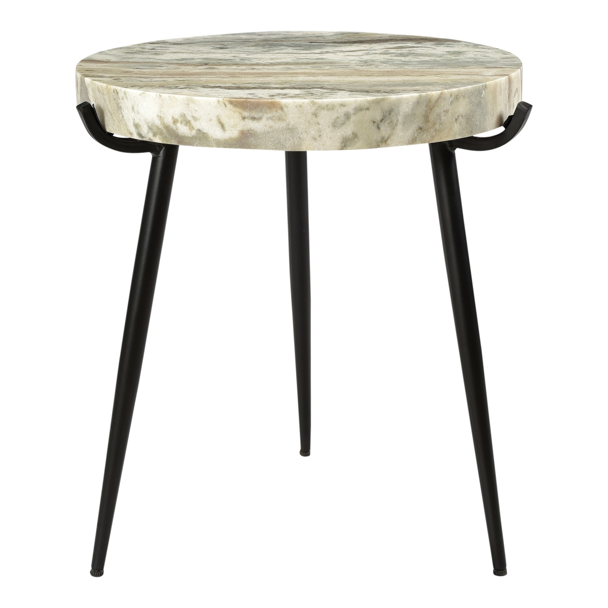 - Shop Aurelle Home Marble And Iron Modern Accent Table - On Sale