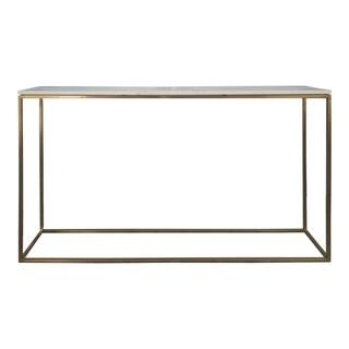 Aurelle Home Que Marble Top Modern Console Table