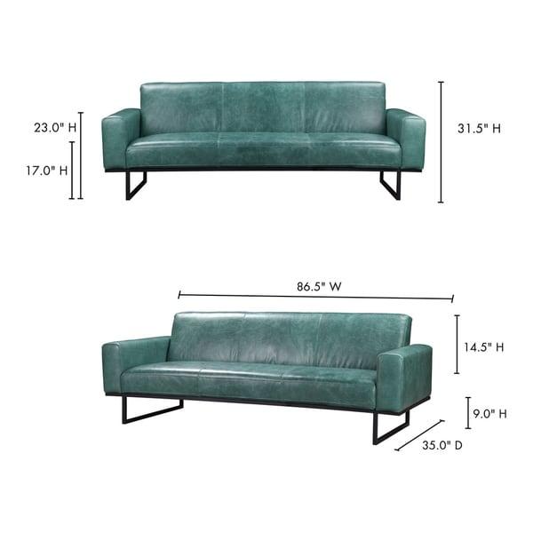 Aurelle Home Brody Modern Leather Sofa