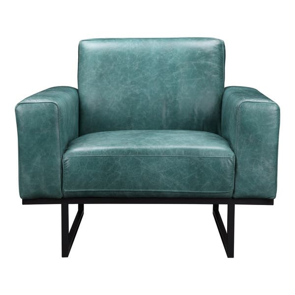 Sensational Shop Aurelle Home Brody Modern Teal Leather Wide Seat Arm Gmtry Best Dining Table And Chair Ideas Images Gmtryco