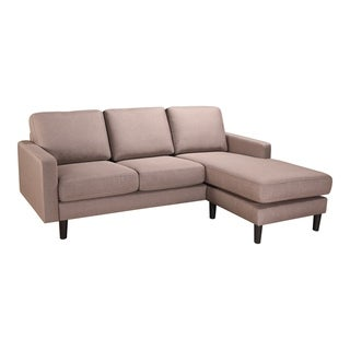 Aurelle Home Soft Modern Reversible Chaise Sectional