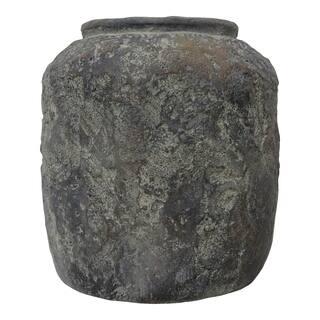 Aurelle Home Vitas Rustic Brown Cement Vase Planter